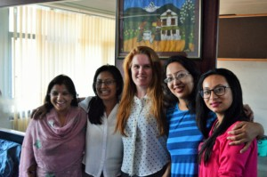 The women lawyers of ILF-Nepal with Betsy