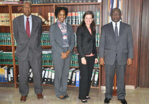 Liberia's Chief Justice and PDC with top ILF staff