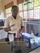 Maritina in the Biology Lab at NVSS