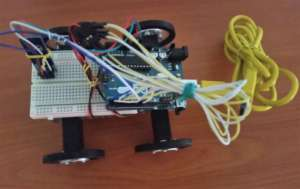 The wirelessly controlled robot