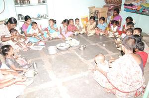 deprived children of working women in hazardous