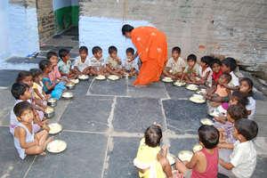 creche centers children midday meals program