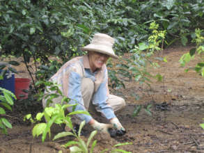 Rainforest Rescue supporter planting on Lot 46