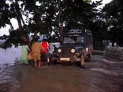 MVS in action during floods