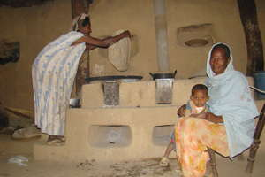 The engera, the traditional food in Eritrea
