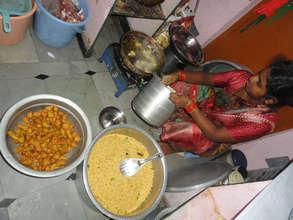 food preparation for orphan children