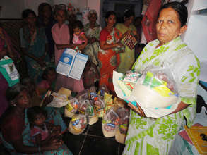 monthly food groceries support to older person