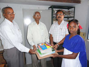 indian girl child receiving education sponsorship