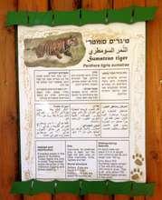 Educational signage at the exhibit (3 languages)