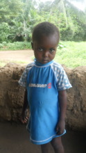 A local child who lost their family to Ebola