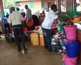 Sanitation supplies delivered to families
