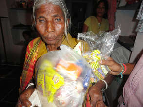 Provide Groceries for Poor Elderly Person