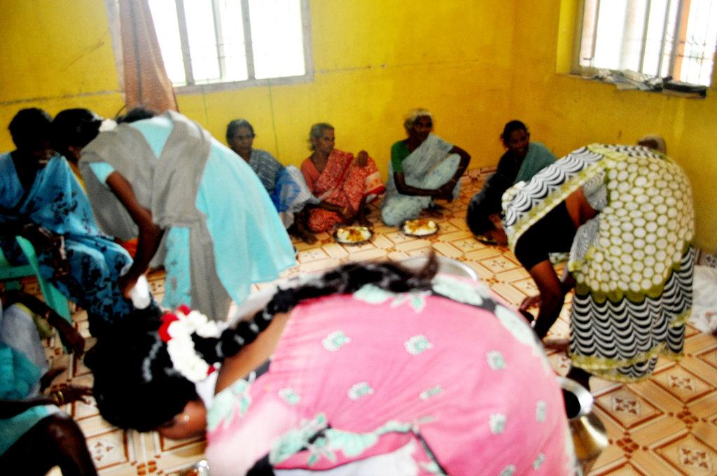 Provide food to starving neglected elder women