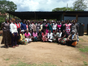 Training with women farmers in West Pokot, Kenya