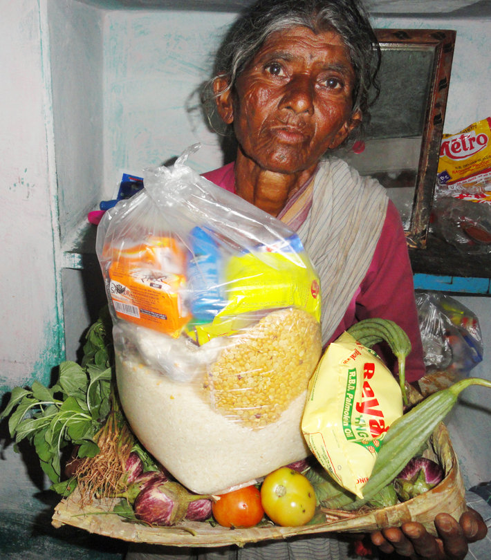 Monthly Groceries for Poor Old Age Person in India