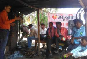 Awareness meeting with Rickshaw Pullers