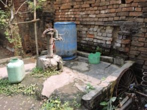 Bore well hand pump in Mitu Garage