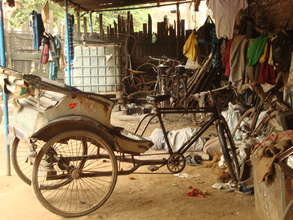 Living Conditions at a Rickshaw Garage