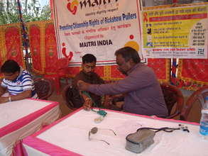 Health Camp for Rickshaw Pullers in Ranchi