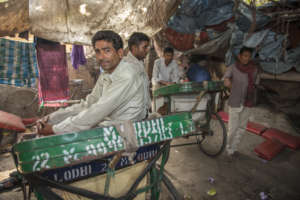 Rickshaw Pullers taking a break