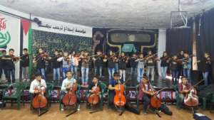 The music students of Al Aqaba perform