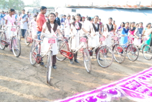 200 bicycles has been donated to school girls..