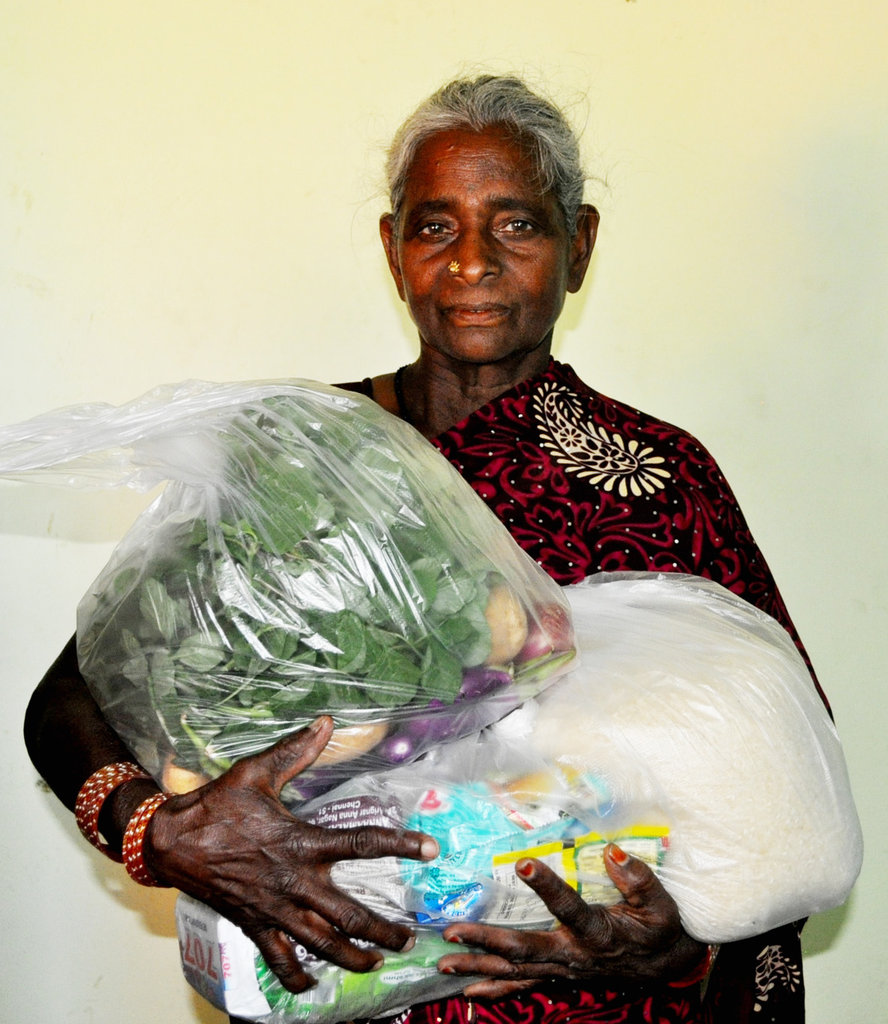 Support monthly groceries to neglected elder women