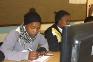 Learner doing an online exercise