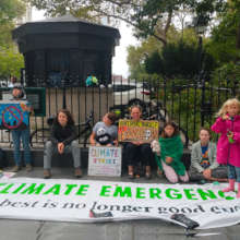Our director strikes for the Climate Emergency!
