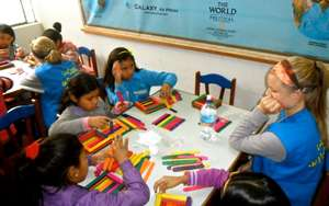 Girls during a workshop at LCP