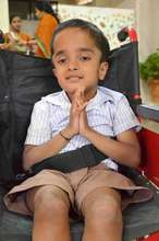 Differently abled child in Dharithree