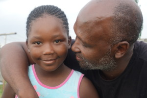 Mr. Matete and his daughter