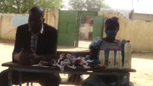 Distribute disinfectant in Chad