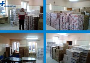 Blue Cross Poland delivers food aid to the needy
