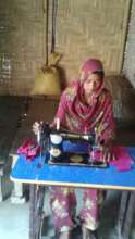 Afsana stitching clothes