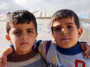 Friends in camp in Jordania