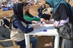 Registration of new refugees