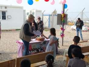 Girl receiving certificate