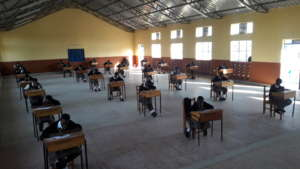 Students prepare to begin their exam
