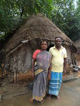 A Dalit family from the Cuddalore district