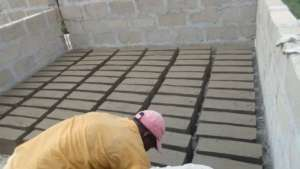 Making cement bricks