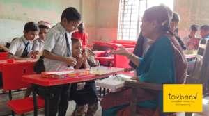 Children overjoyed when their teacher joins in!