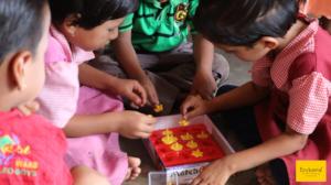 Children learning shapes together