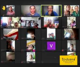 Teachers engaged at our virtual workshop