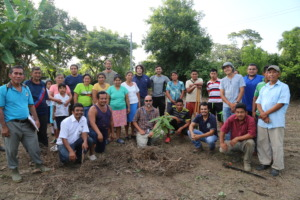 A community cooperative in their new orchard