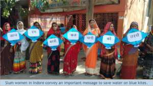 Slum women spread message to save water in Indore