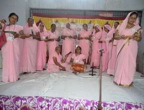 Women performing motivational self composed song