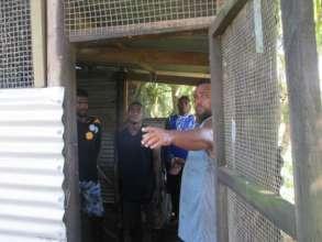 Junia teaching the trainees