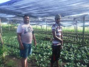Pranil and brother and their organic farm
