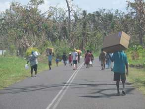 Communities getting water and food supply